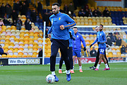 Mansfield Town forward Craig Davies (9) warming up before the EFL Sky Bet League 2 match between Mansfield Town and Grimsby Town FC at the One Call Stadium, Mansfield, England on 4 January 2020.