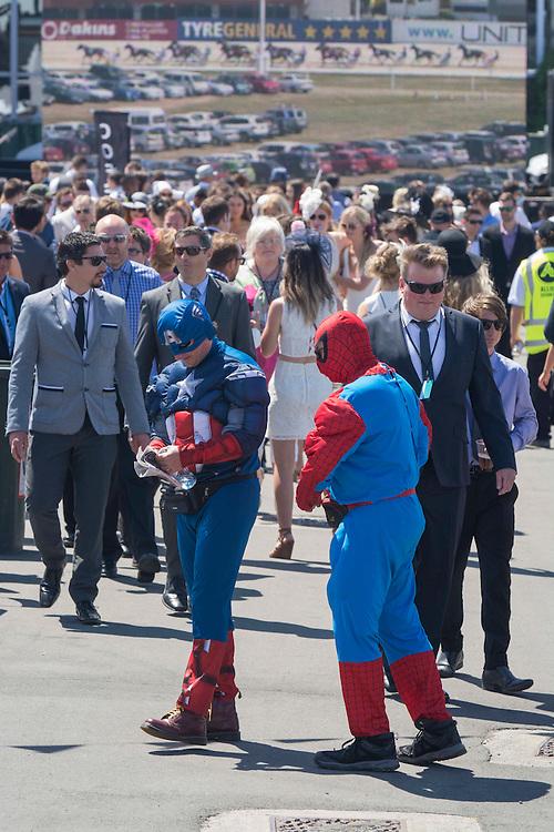 The crowd at the New Zealand Trotting Cup Day, Addington Raceway, Christchurch, New Zealand, Tuesday, 10 November, 2015.<br /> Credit:SNPA / David Alexander