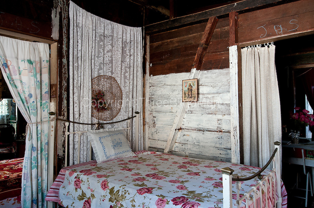 Bedroom of an old creole home in Mahebourg beautifully looked after by it's owner Mr. Karl Lutchmanen, Rue Marianne,