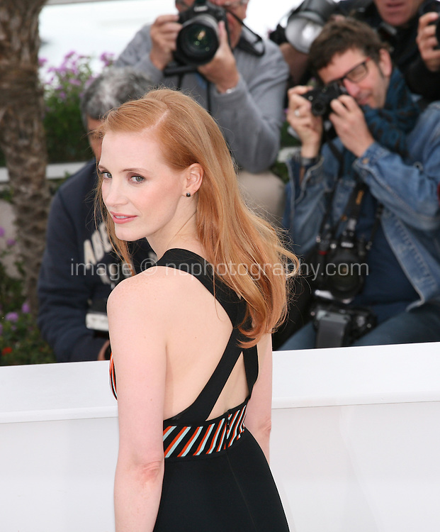 Jessica Chastain at the Lawless film photocall at the 65th Cannes Film Festival. The screenplay for the film Lawless was written by Nick Cave and Directed by John Hillcoat. Saturday 19th May 2012 in Cannes Film Festival, France.