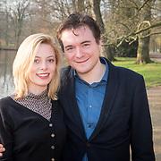 NLD/Amsterdam/20151215 -  Nominatielunch Musical Awards Gala 2016, Roos van Erkel en partner Xander van Vledder