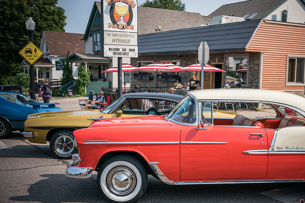 Classics on Third car show in Marquette, Michigan.
