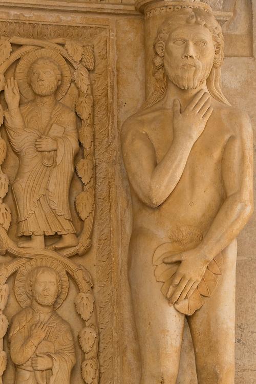 Europe, Balkan, Croatia, Trogir, Cathedral, church portal