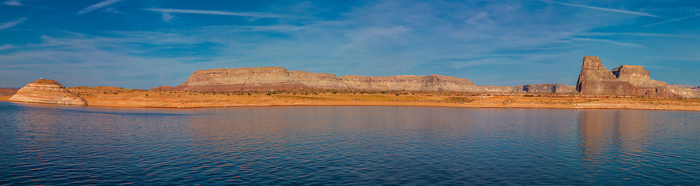 Panorama of Lake Powell and Glen Canyon National Recreation Area.