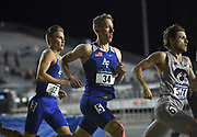 Michael Rhoads (34) of Air Force runs in the 800m during the NCAA West Track & Field Preliminary, Thursday, May 25, 2019, in Sacramento, Calif.