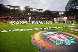 BASEL, SWITZERLAND - Wednesday, May 18, 2016: The opening ceremony before the UEFA Europa League Final between Liverpool and Sevilla at St. Jakob-Park. (Pic by David Rawcliffe/Propaganda)