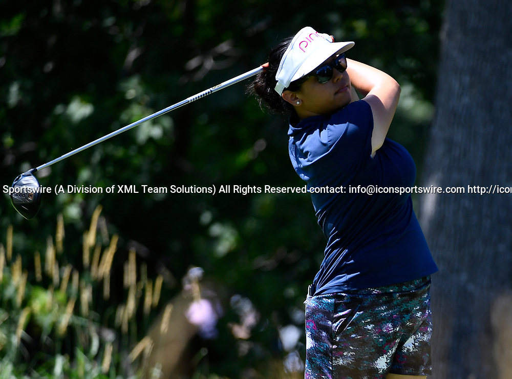 OLYMPIA FIELDS, IL - JULY 01: Jane Park plays the ball from the fifth tee during the third round of the 2017 KMPG PGA Championship at Olympia Fields on July 1, 2017 in Olympia Fields, Illinois. (Photo by Quinn Harris/Icon Sportswire)