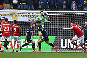 Kiko Casilla (33) of Leeds United grabs the ball during the EFL Sky Bet Championship match between Bristol City and Leeds United at Ashton Gate, Bristol, England on 9 March 2019.