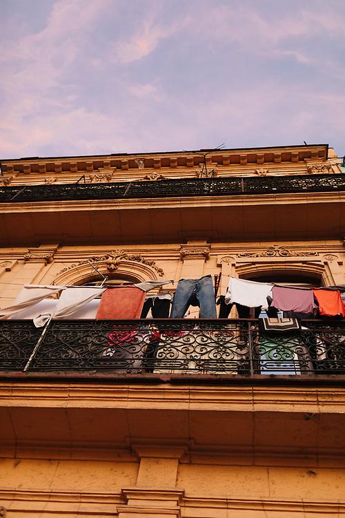 Laundry drying on balcony Old Havana, Havana Cuba