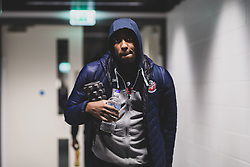 Raphell Thomas-Edwards of Bristol Flyers arrives at Copper Box Arena prior to kick off - Photo mandatory by-line: Ryan Hiscott/JMP - 18/12/2019 - BASKETBALL - Copper Box Arena - London, England - London Lions v Bristol Flyers - British Basketball League Championship