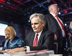 28.11.2014, Messe, Wien, AUT, SPÖ, 43. Ordentlicher Bundesparteitag. im Bild v.l.n.r. Nationalratspraesidentin Doris Bures (SPOe), Bundeskanzler Werner Faymann vor Landeshauptmann und Bürgermeister von Wien Michael Häupl // f.l.t.r. President of the National Council Doris Bures (SPOe) Federal Chancellor of Austria Werner Faymann in front of Mayor of Vienna Michael Haeupl during political convention of the austrian social democratic party at Messe Wien in Vienna, Austria on 2014/11/28. EXPA Pictures © 2014, PhotoCredit: EXPA/ Michael Gruber