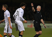 Referee Christopher Foy during the The FA Cup match between Cambridge United and Manchester United at the R Costings Abbey Stadium, Cambridge, England on 23 January 2015. Photo by Phil Duncan.