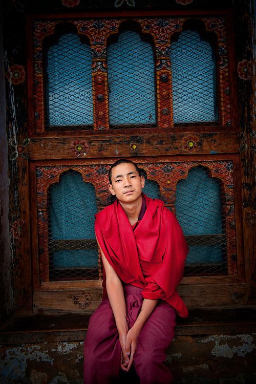Asia, Tibet, Bhutan, Thimpu, Monk