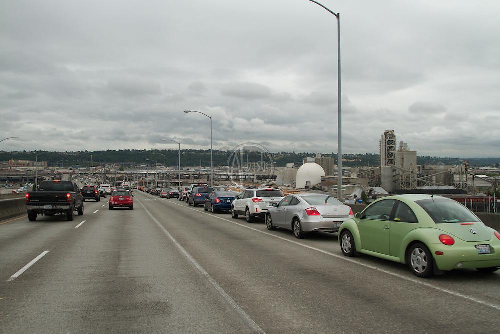 Traffic on the West Seattle Bridge.