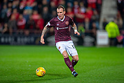 Glenn Whelan (#12) of Heart of Midlothian FC during the Betfred Scottish Football League Cup quarter final match between Heart of Midlothian FC and Aberdeen FC at Tynecastle Stadium, Edinburgh, Scotland on 25 September 2019.