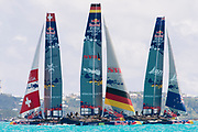The Great Sound, Bermuda, 20th June 2017, Red Bull Youth America's Cup Finals. Race one,Team Tilt, (SUI), Next Generation - Team Germany, and NZL Sailing Team.
