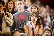 obamatucson 12 JANUARY 2011 - TUCSON, AZ: . The crowd in the University of Arizona stadium Wednesday when it was used for overflow seating during the Together We Thrive Tucson & America event on University of Arizona campus. Tens of thousands of people filed into the stadium to hear President Obama speak. The service is for the victims of Saturday's mass shooting at a Safeway in Tucson.        ARIZONA REPUBLIC PHOTO BY JACK KURTZ..Gabrielle Giffords shooting, mass shooting,