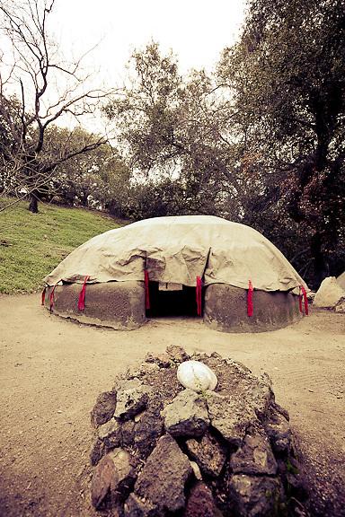 Sweat lodge ceremony, Ojai.