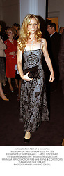 Actress EMILIA FOX at a reception in London on 14th October 2003.PNL 506