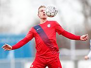FODBOLD: Linus Olsson (Nykøbing FC) under kampen i NordicBet Ligaen mellem FC Helsingør og Nykøbing FC den 12. marts 2017 på Helsingør Stadion. Foto: Claus Birch