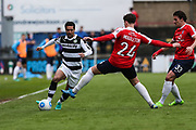 Forest Green Rovers Fabien Robert(26) runs forward during the Vanarama National League match between York City and Forest Green Rovers at Bootham Crescent, York, England on 29 April 2017. Photo by Shane Healey.