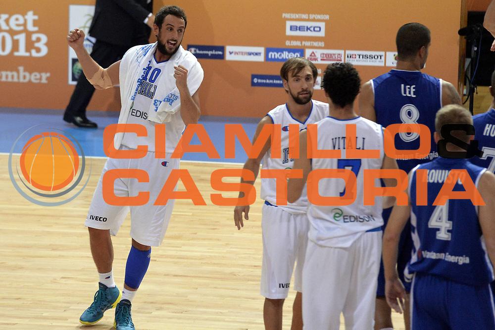 DESCRIZIONE : Capodistria Koper Slovenia Eurobasket Men 2013 Preliminary Round Finlandia Italia Finland Italy<br /> GIOCATORE : Marco Belinelli<br /> CATEGORIA : Esultanza<br /> SQUADRA : Italia <br /> EVENTO : Eurobasket Men 2013<br /> GARA : Finlandia Italia Finland Italy<br /> DATA : 07/09/2013<br /> SPORT : Pallacanestro&nbsp;<br /> AUTORE : Agenzia Ciamillo-Castoria/GiulioCiamillo<br /> Galleria : Eurobasket Men 2013 <br /> Fotonotizia : Capodistria Koper Slovenia Eurobasket Men 2013 Preliminary Round Finlandia Italia Finland Italy<br /> Predefinita :