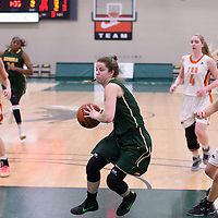 2nd year guard Michaela Kleisinger (2) of the Regina Cougars during the 5th year night on February  11 at Centre for Kinesiology, Health and Sport. Credit: Arthur Ward/Arthur Images