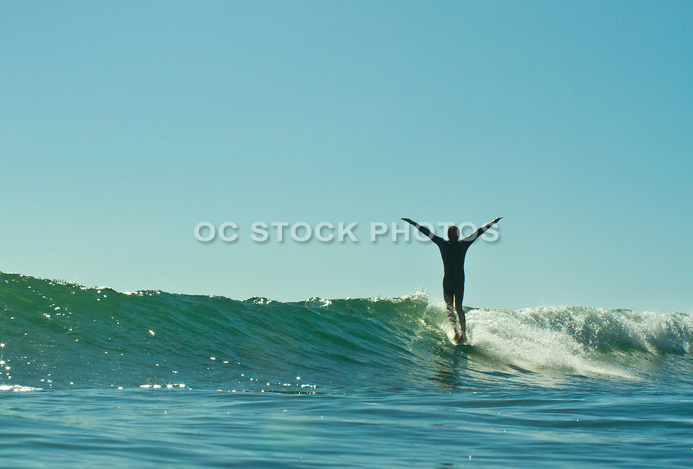 Surfing Waves at San Onofre State Beach
