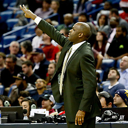 Dec 15, 2016; New Orleans, LA, USA; Indiana Pacers head coach Nate McMillan against the New Orleans Pelicans during the second half of a game at the Smoothie King Center. The Pelicans defeated the Pacers 102-95. Mandatory Credit: Derick E. Hingle-USA TODAY Sports