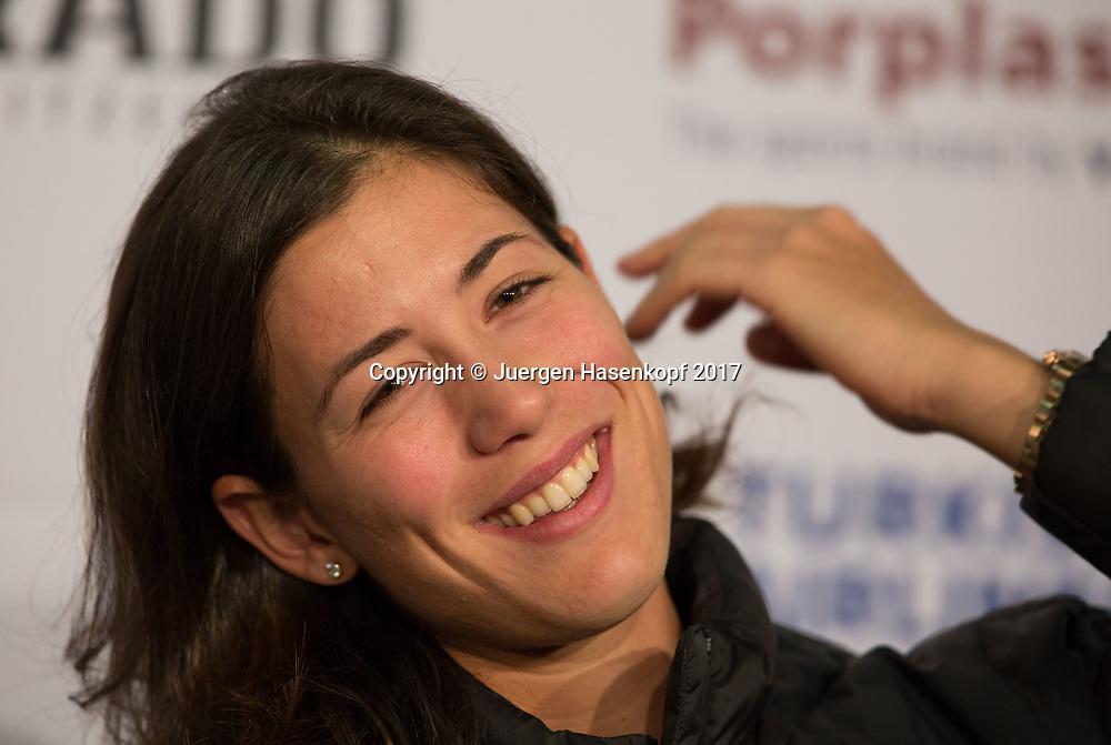 GARBI&Ntilde;E MUGURUZA (ESP), Pressekonferenz, Portrait<br /> <br /> Tennis - Porsche  Tennis Grand Prix 2017 -  WTA -  Porsche-Arena - Stuttgart -  - Germany  - 25 April 2017.