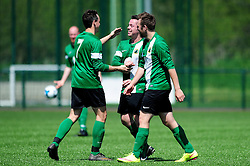 Joe Hedger of SWYD United celebrates with his team mates after scoring - Mandatory by-line: Dougie Allward/JMP - 08/05/2016 - FOOTBALL - Keynsham FC - Bristol, England - BAWA Sports v SWYD United - Presidents cup final