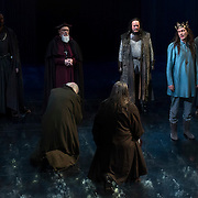 March 24, 2016 - New York, NY : David Tennant, in crown second from right, performs as Richard II during a photo call/dress rehearsal for The Royal Shakespeare Company's (RSC) Richard II at the Brooklyn Academy of Music's (BAM) Harvey Theater in Brooklyn on Thursday afternoon. The production, which is being directed by RSC Artistic Director Gregory Doran as part of Shakespeare's Great Cycle of Kings, marks the 400th anniversary of William Shakespeare's death.  CREDIT: Karsten Moran for The New York Times