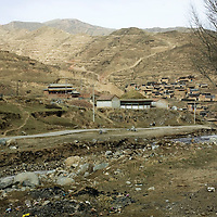 APRIL 3,2012 :  the village , including its monatery , where Sonam Dargye, 43, used to live before he self-immolated.