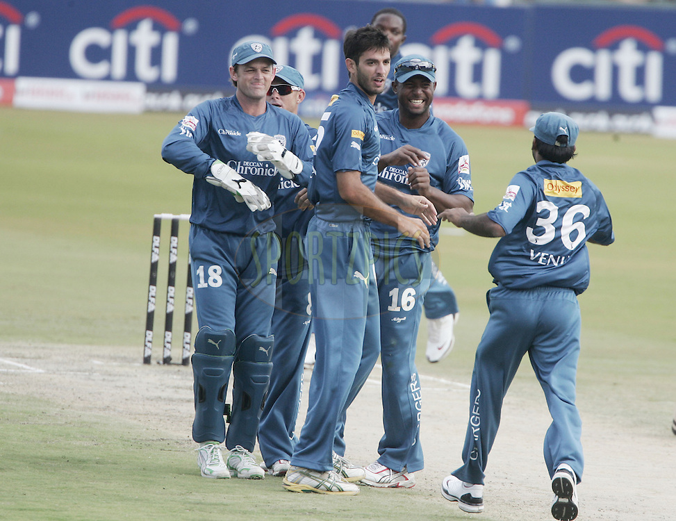 CENTURION, SOUTH AFRICA - 30 April 2009.  during the  IPL Season 2 match between the Deccan Chargers and Delhi Daredevils held at  in Centurion, South Africa.Adam Gilchrist,Rao Venugopal and Dwayne Smith.