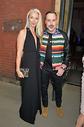 TAMARA BECKWITH and DAVID FURNISH at the V&A Summer Party in association with Harrod's held at The V&A Museum, London on 22nd June 2016.