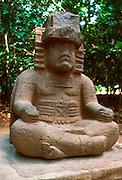 MEXICO, TABASCO, OLMEC stone sculpture in La Venta Museum