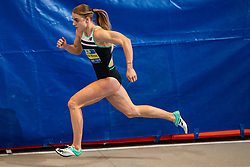 Lisanne de Witte in action on the 200 meter during the Dutch Indoor Athletics Championship on February 23, 2020 in Omnisport De Voorwaarts, Apeldoorn