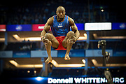 Donnell Whittenburg of the United States of America (USA) during the iPro Sport World Cup of Gymnastics 2017 at the O2 Arena, London, United Kingdom on 8 April 2017. Photo by Martin Cole.