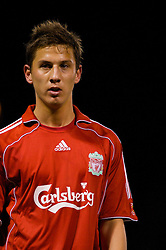 WARRINGTON, ENGLAND - Saturday, March 1, 2008: Liverpool's Krisztian Nemeth in action against Bolton Wanderers during the FA Premiership Reserves League (Northern Division) match at the Halliwell Jones Stadium. (Photo by David Rawcliffe/Propaganda)