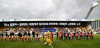 FODBOLD: Spillerne er klar til kampen i ALKA Superligaen mellem AC Horsens og FC Helsingør den 23. september 2017 på CASA Arena Horsens. Foto: Claus Birch