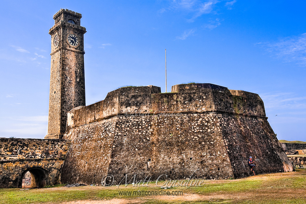 The fort clock  tower would have been the last line of defense if the fort was ever attacked.<br /> (Photo by Matt Considine - Images of Asia Collection)