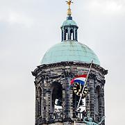 NLD/Amsterdam/20160504 - Nationale Dodenherdenking 2016 Dam Amsterdam, koepel Paleis op de Dam