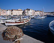 AA00368-02...FRANCE - Boat harbor at St Tropez on the French Riviera.