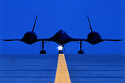 SR-71 on runway