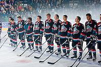 KELOWNA, CANADA, OCTOBER 1: Kelowna Rockets skate against the Vancouver Giants on October 1, 2011 at Prospera Place in Kelowna, British Columbia, Canada (Photo by Marissa Baecker/Getty Images) *** Local Caption ***
