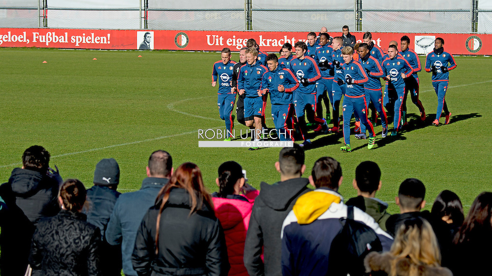 ROTTERDAM - Dirk Kuyt Feyenoord  tijdens de training van woensdag 24 februari , copyright robin utrecht