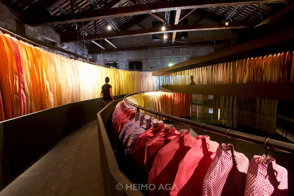 """Venice, Italy - 15th Architecture Biennale 2016, """"Reporting from the Front"""".<br /> Arsenale.<br /> Atelier Peter Zumthor & Partner."""