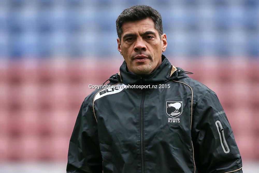 13/11/2015 - Rugby League - England v New Zealand, 3rd Test - DW Stadium, Wigan, England - New Zealand head coach Stephen Kearney during the Team Run ahead of Saturday's game.<br /> Copyright photo: Alex Whitehead / www.photosport.nz