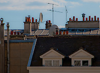 Mix of old and new on some Paris rooftops