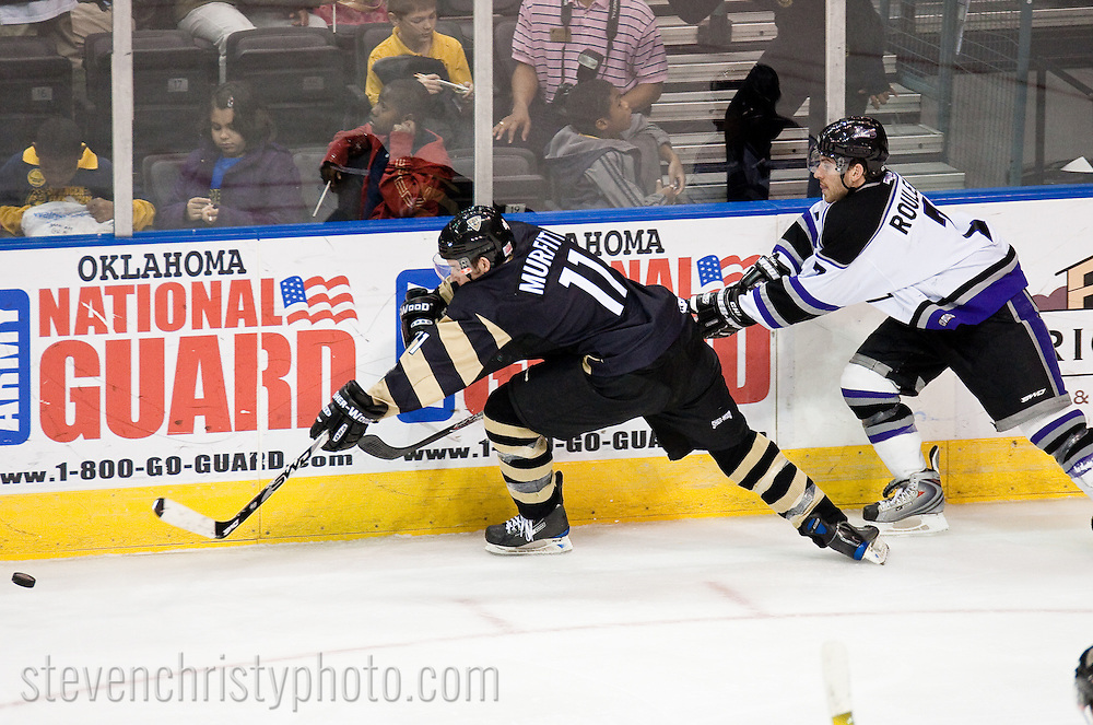 February 10, 2009: The Texas Brahmas of the CHL play against the Oklahoma City (OKC) Blazers at the Ford Center in Oklahoma City, OK.